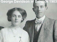 Isabella Davidson (nee Johnston) 1880 to after 1969 married George Davidson in Berwick 1903