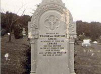 Memorial Stone to Edward Liness, Lydia & William Liness