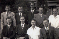 Johnston Boys: Jack Muir, Harold Johnston, David Johnston, ? , ? <br />Ian Muir, Ken Johnston, Jimmy Johnston, ?